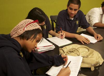 Poets at work. 826DC Poetry Workshop, March 23, 2011
