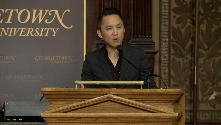 Author Viet Thanh Nguyen at the 2017 Lannan Symposium, The Global Soul