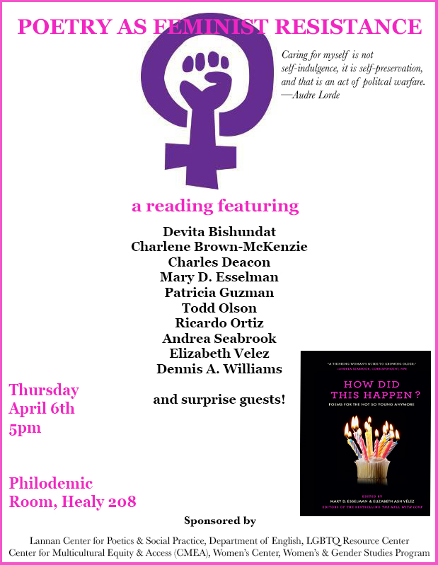 """Poster for """"Poetry As Feminist Resistance"""" Event"""