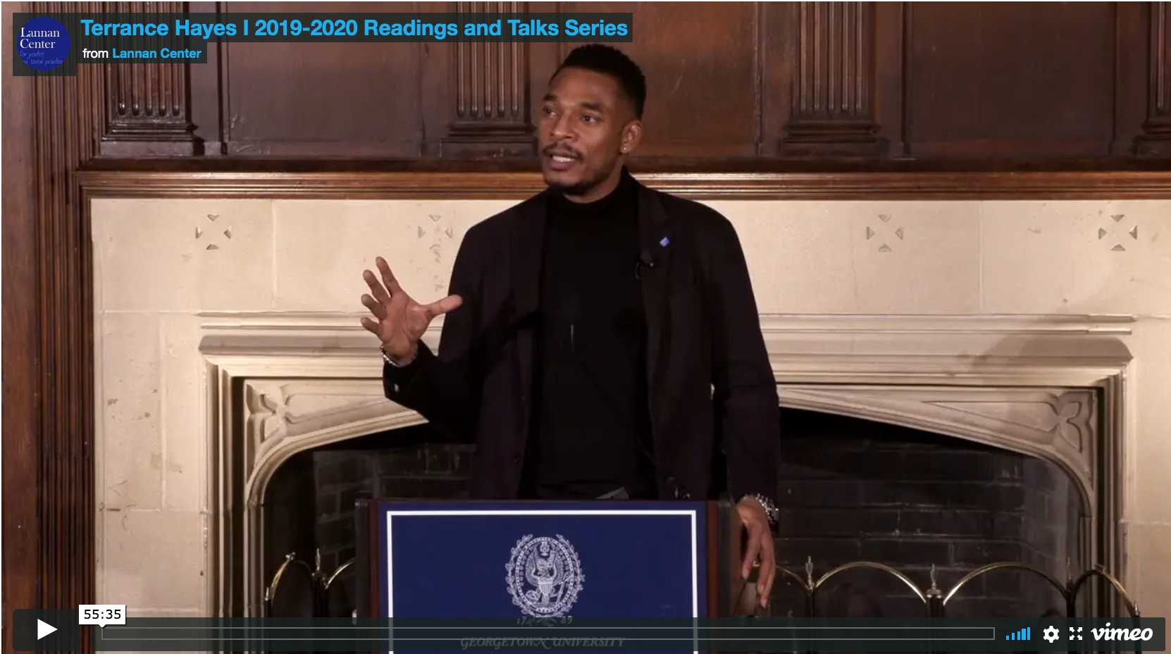 Terrance Hayes Reading